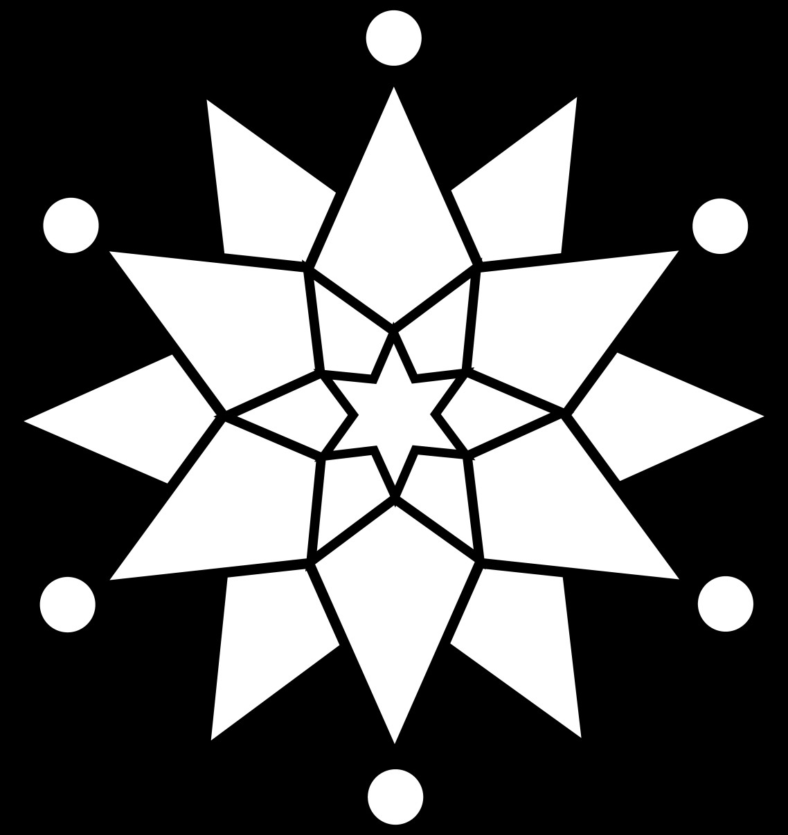 Black Christmas Snowflake Clipart.