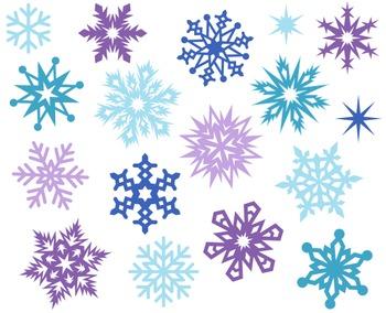 Christmas Snowflakes Decoration Cute Digital Clipart, Xmas Clipart.