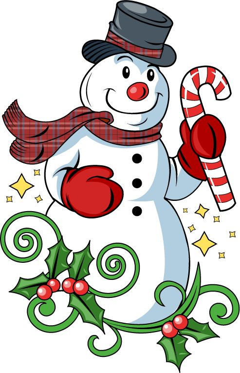 Clipart Snowman Christmas Images.
