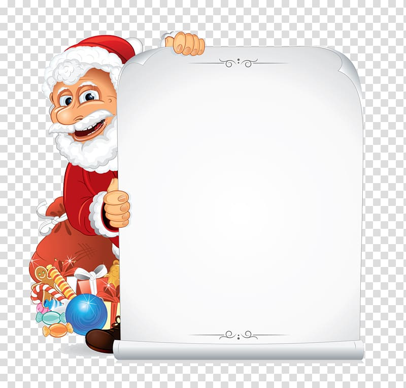 Santa Claus Paper Scroll , Santa Claus decoration Stationery.