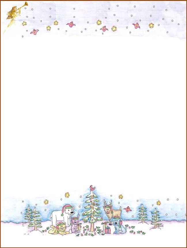 christmas holiday stationery templates.