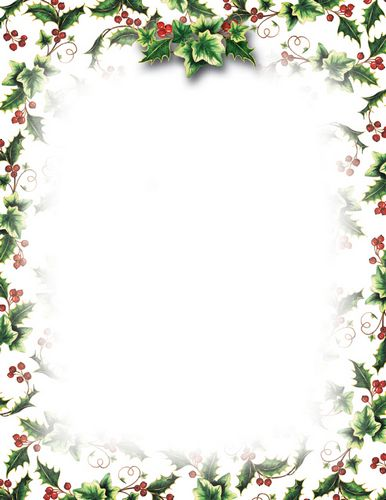 Christmas Stationery Clipart.