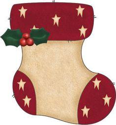 Christmas Stocking Clipart Printables.