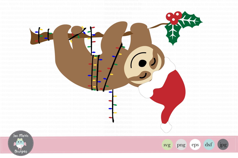 Christmas Sloth SVG, Sloth SVG, Christmas clipart.