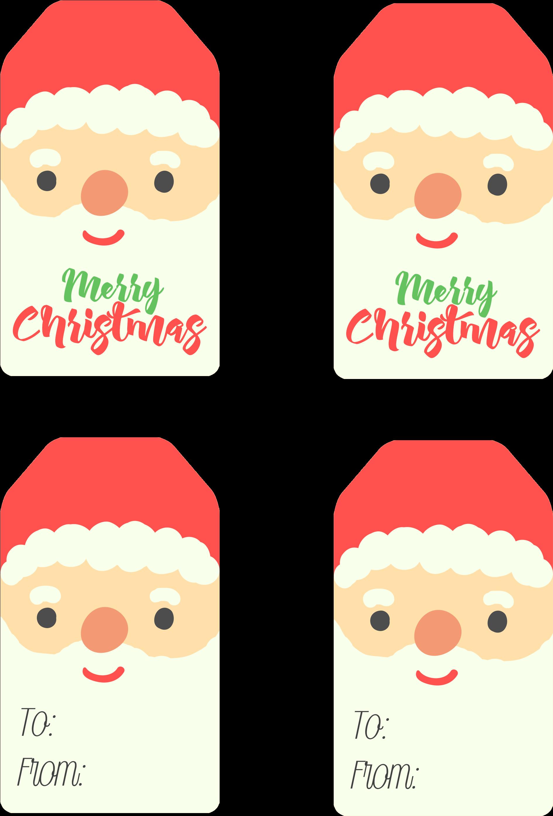 Santa Christmas Tags Christmas Santa Claus Tag.