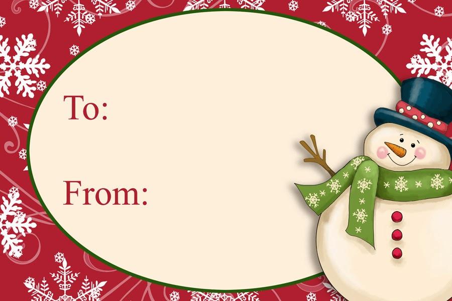 Christmas Name Tag Clipart.