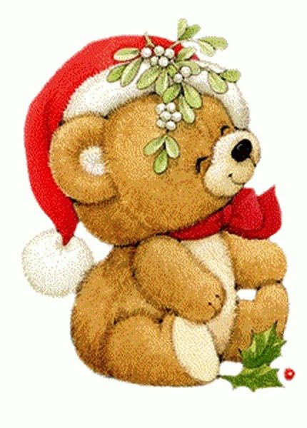 CHRISTMAS TEDDY BEAR, CLIP ART.