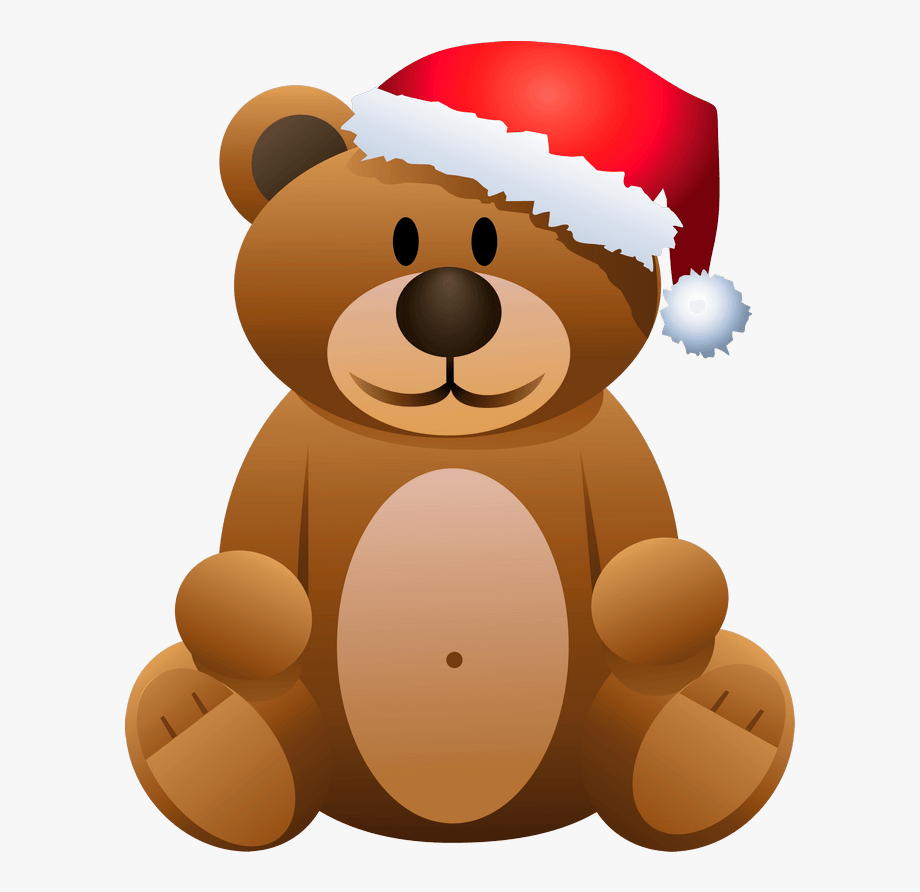 Christmas Brown Bear Png Clipart.