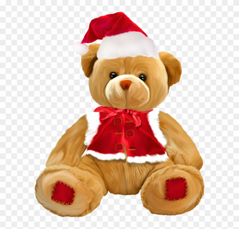 Christmas Teddy Bear Png Clipart.