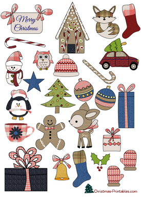 27 Free Printable Christmas Stickers.