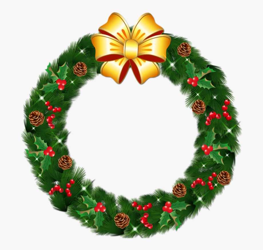 Christmas Wreath Clipart, Christmas Clipart Free, Christmas.