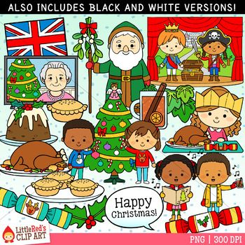 Christmas Around the World Clip Art United Kingdom.