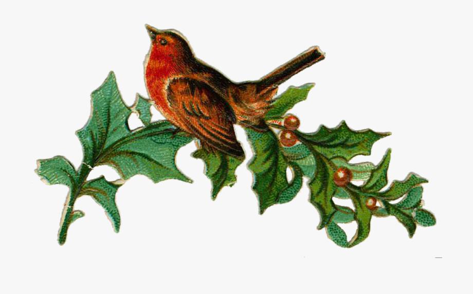 Victorian Merry Christmas Clip Art.