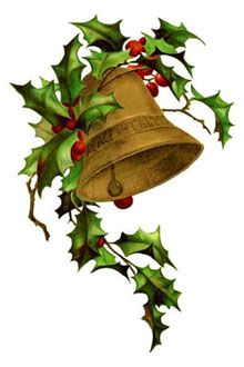Christmas Clipart: Vintage Bells.
