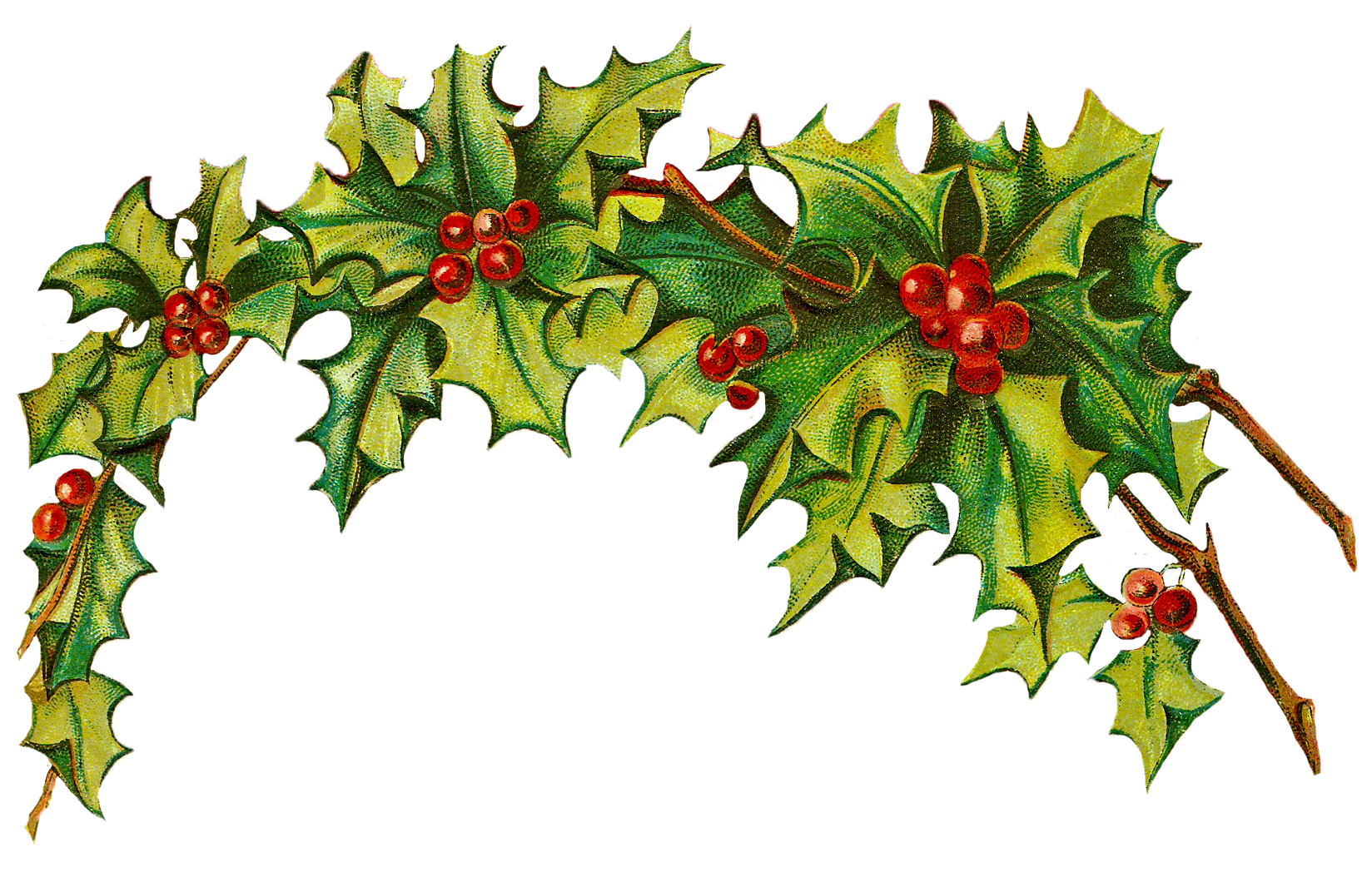 Free Vintage Christmas Clip Art.