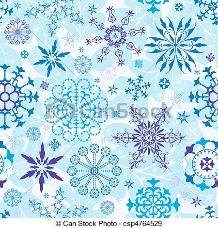 EPS Vectors of Seamless blue christmas wallpaper.