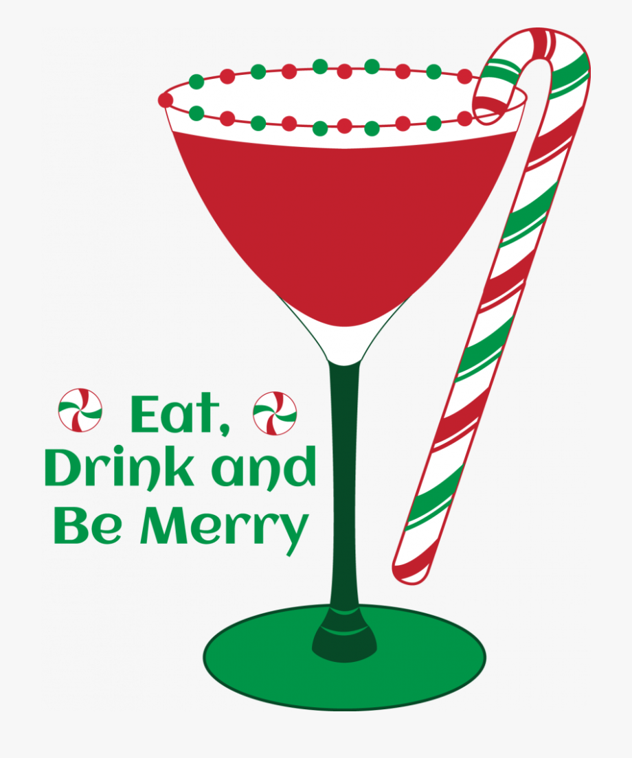 Christmas Cocktail Glass Clipart , Transparent Cartoon, Free.