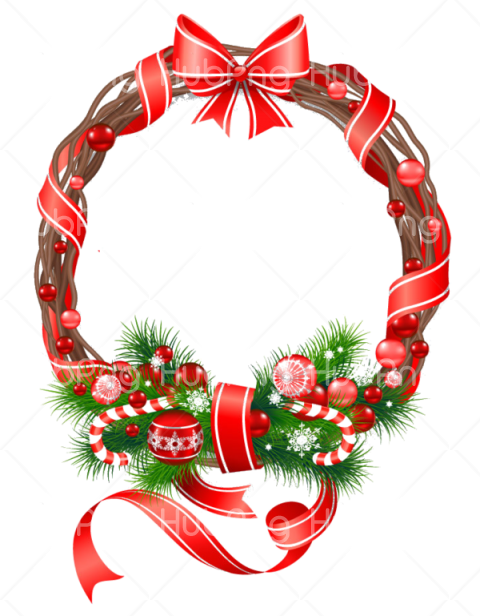 wreath for christmas clipart Transparent Background Image.
