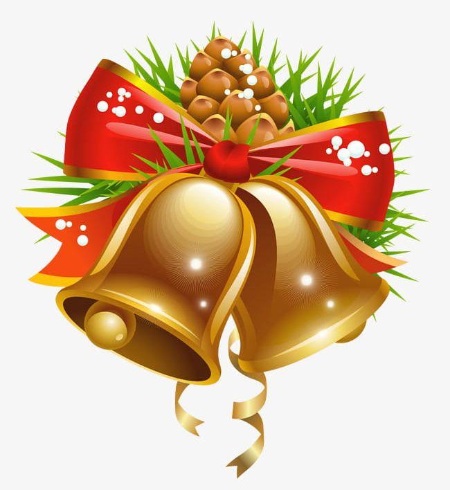 Christmas Bells Delicate Transparent Background PNG, Clipart, Bells.