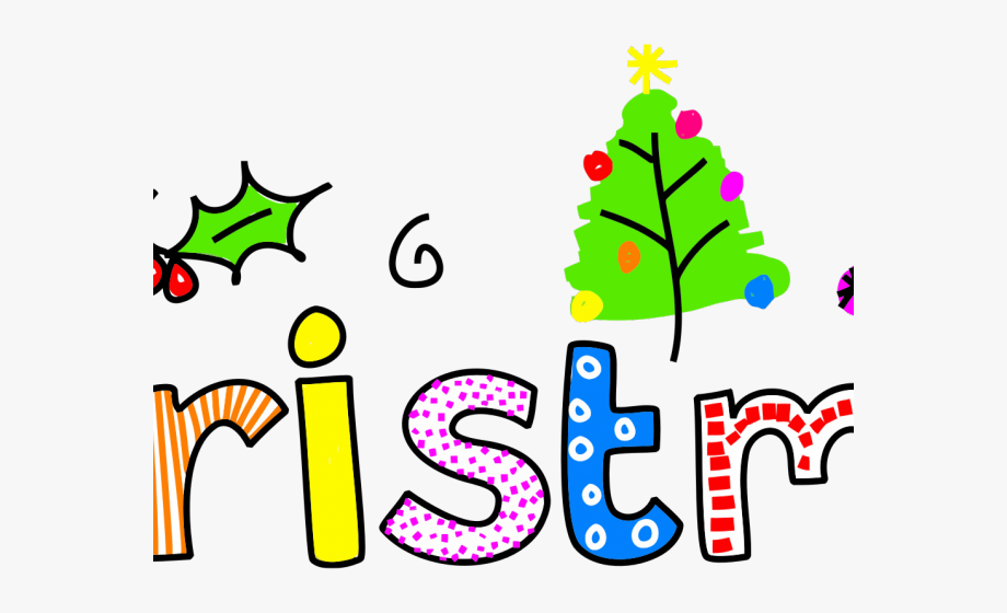 Typography Clipart Christmas.