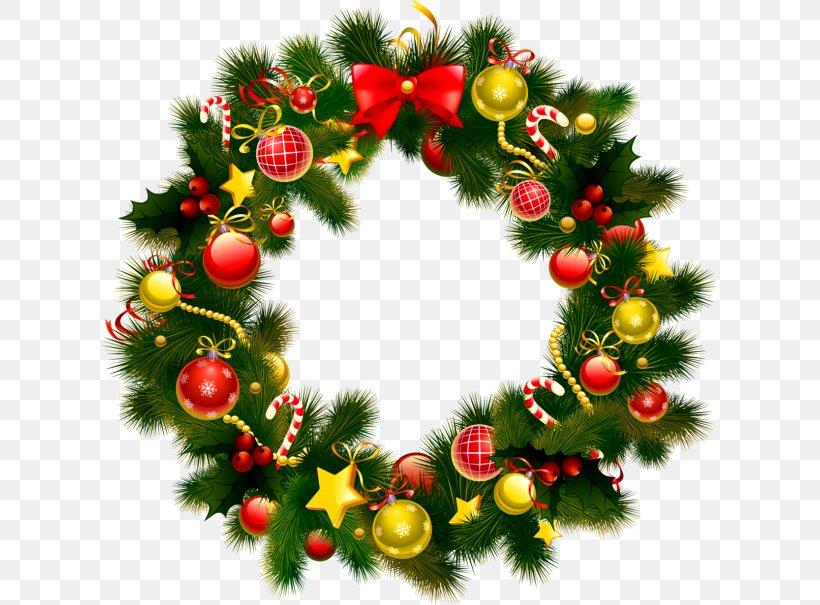 Wreath Christmas Garland Clip Art, PNG, 615x605px, Wreath.