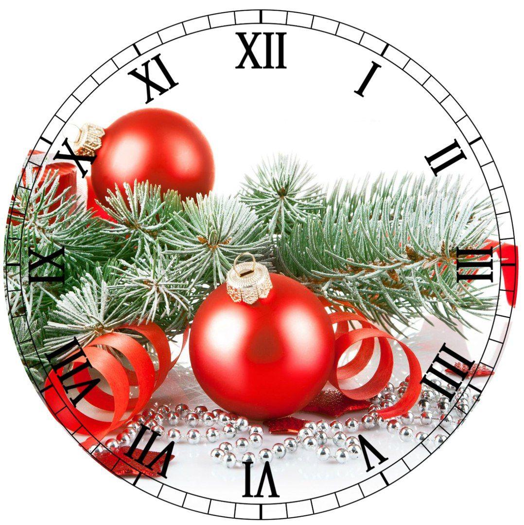 Christmas clock face printable.
