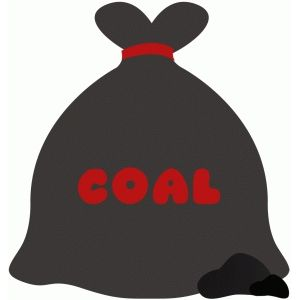 Silhouette Design Store: bag lump of coal christmas naughty.