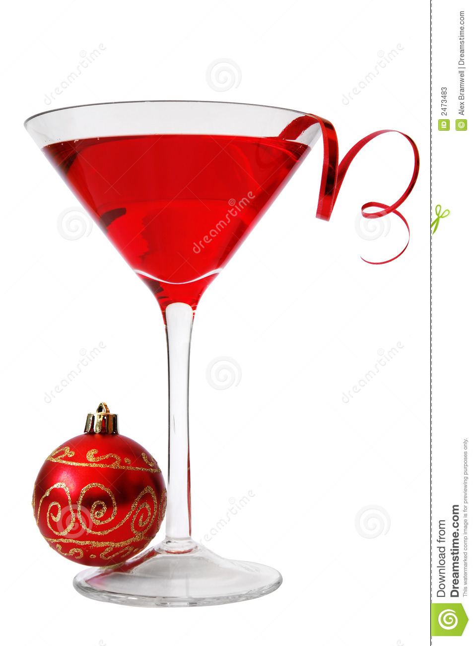 Christmas Cocktail Clipart.