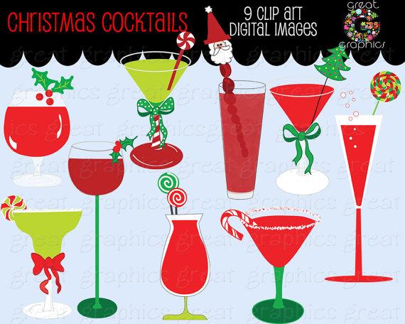 Clip Art Christmas Martini Clipart#2144162.