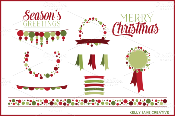 Christmas Border Clipart Cocktail.