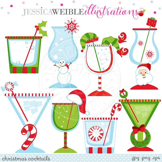 Free Christmas Cocktail Clipart.