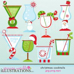 christmas cocktail clipart free #4