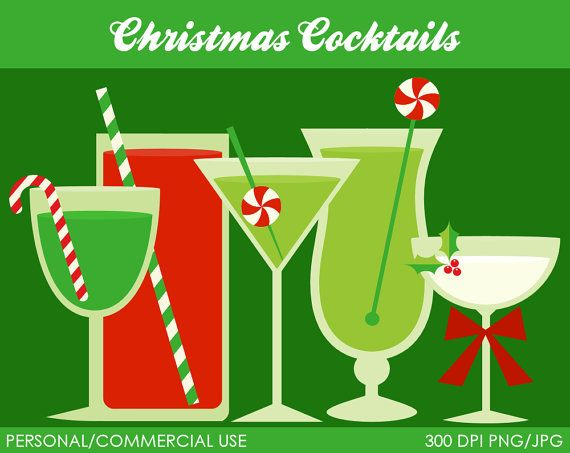Christmas cocktail clipart free.