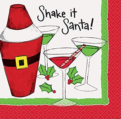 Shake it Santa Christmas Cocktail Napkins, 16ct.