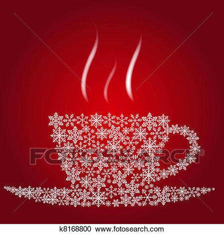 Christmas coffee cup Clipart.