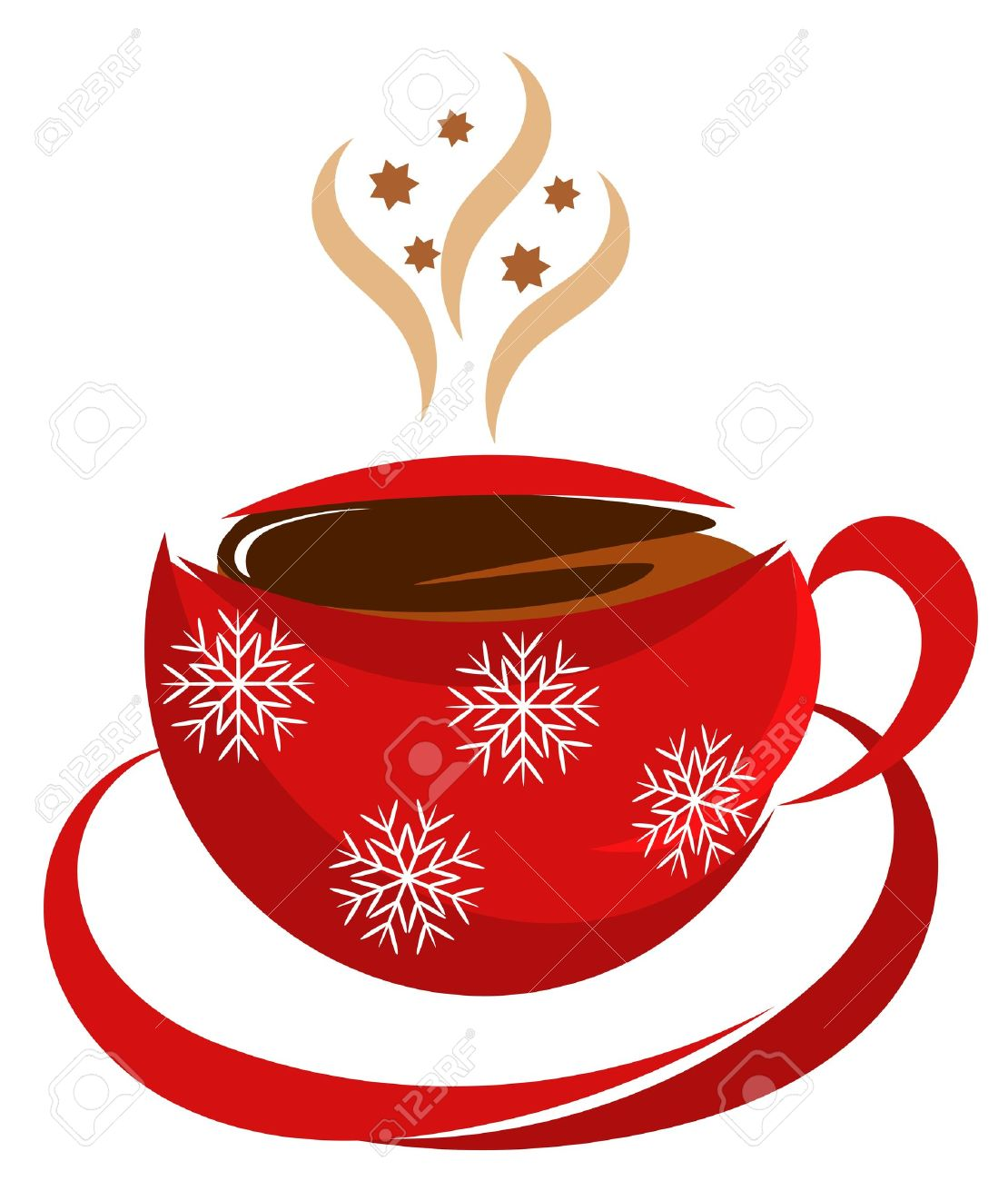 Christmas coffee cup in red color.