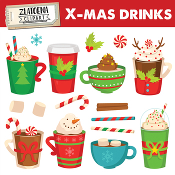 Christmas drink clip art Holiday Drinks Clip Art Christmas clipart.