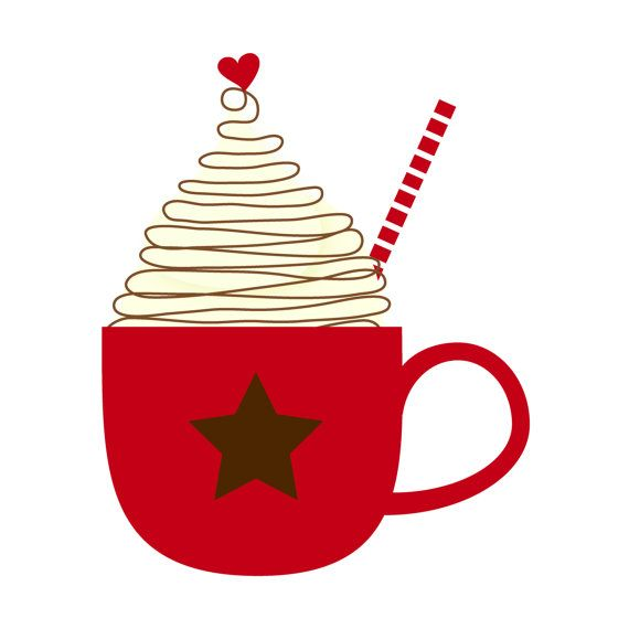 Cup of Hot Cocoa Clip Art Single by by kimsclipartshop on.