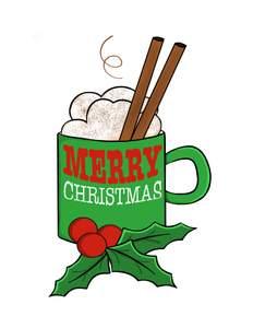 Merry Christmas Mug Clipart.