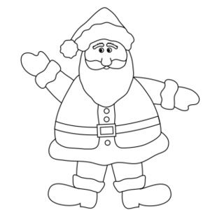 Christmas coloring clip art.