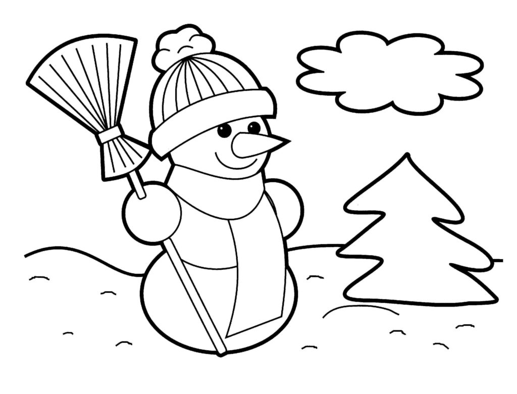 Christmas Coloring Book Clipart.