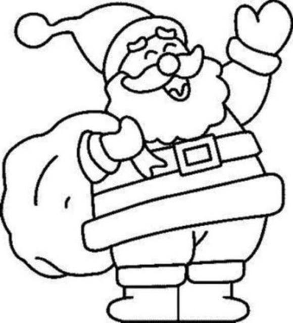 Christmas Coloring Clipart