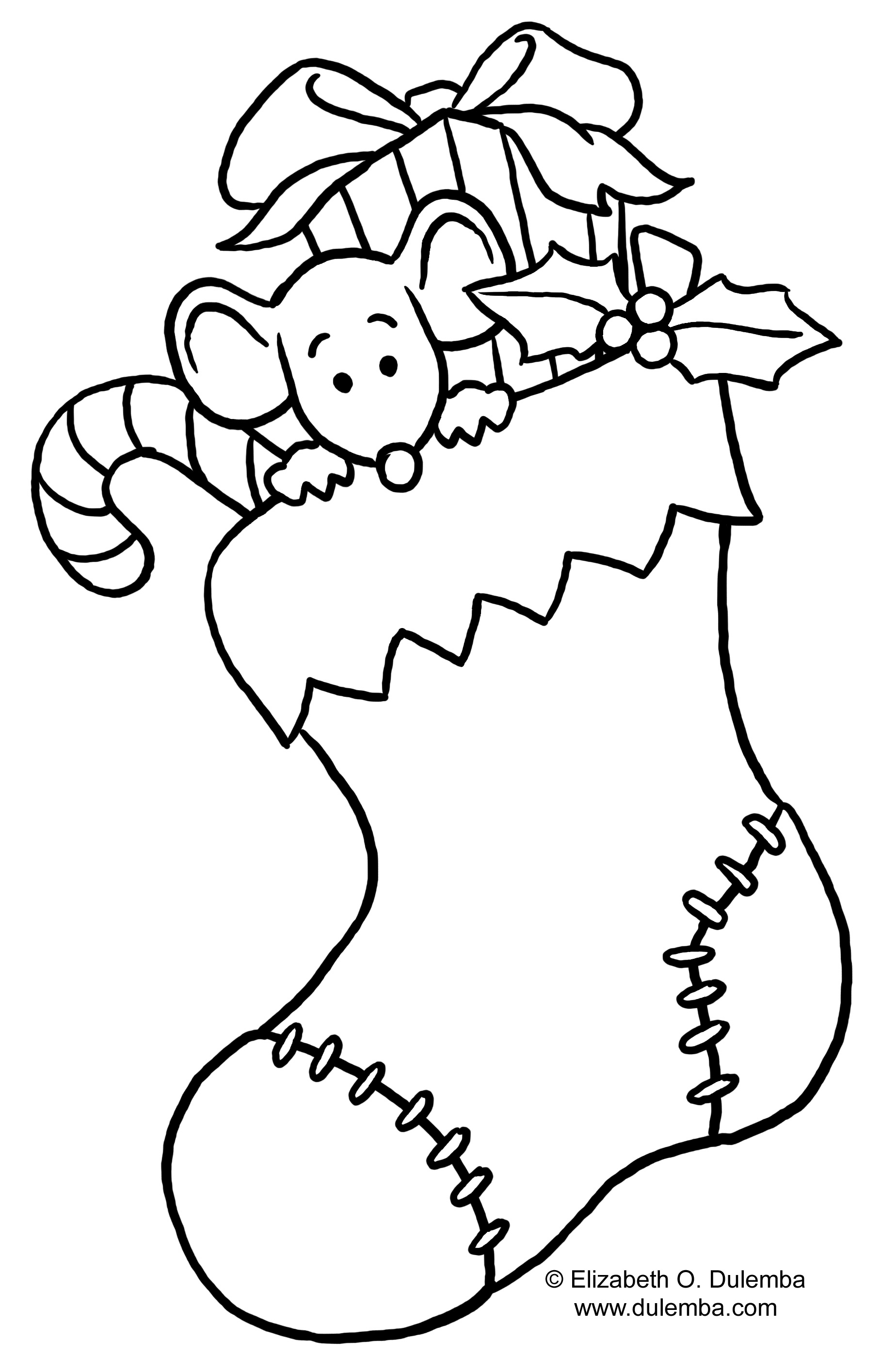 Christmas Coloring Pages Clipart.