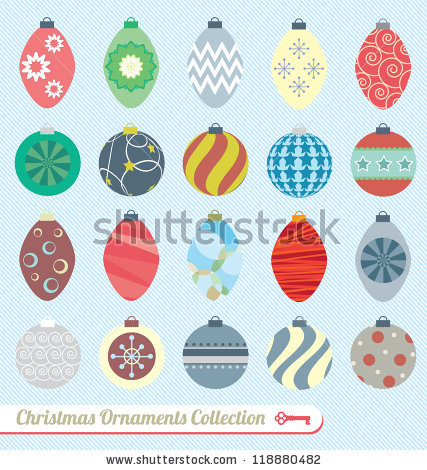 Christmas Ornaments Stock Images, Royalty.
