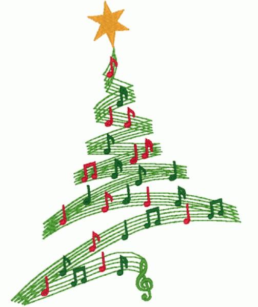 Christmas clip art music.