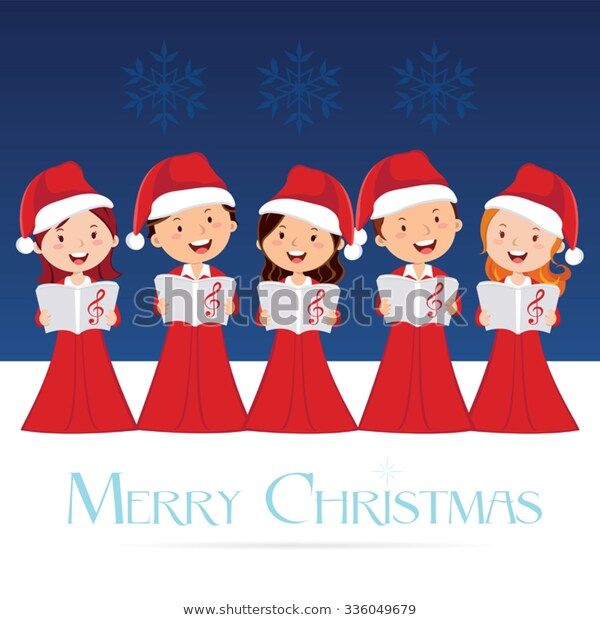 Choir Christmas Concert Christmas Carols Stock Vector (Royalty Free.