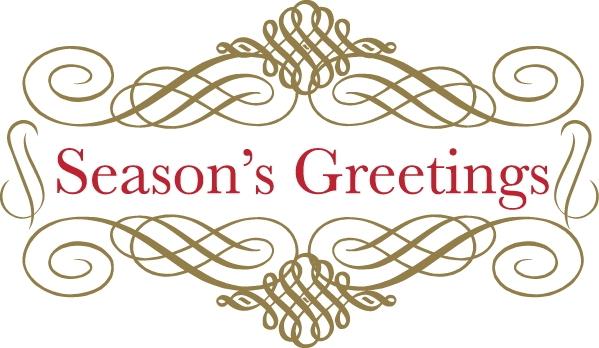 Christmas Seasons Greetings Clip Art.