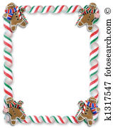 Gingerbread man border Illustrations and Clip Art. 45 gingerbread.