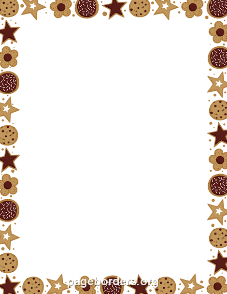 Printable cookie border. Use the border in Microsoft Word or other.