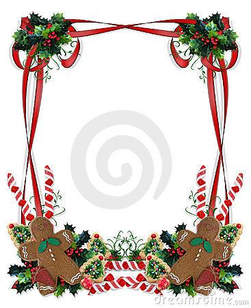 Christmas Cookies And Treats Border Royalty Free Stock Photo.